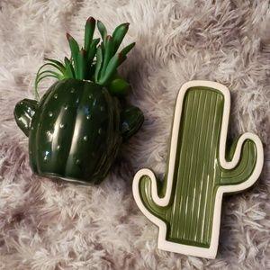 Other - Set of 2 cactus room decor faux succulent plant